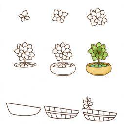 【转】18个超萌多肉植物简笔画