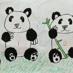 画画-两只熊猫(20191222)