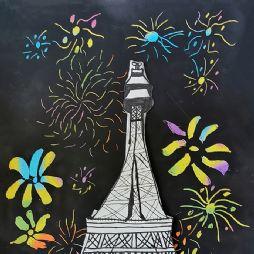 画画-焰火下的埃菲尔铁塔(20201011)