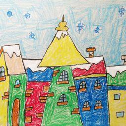 画画-雪中的房子(20210111)