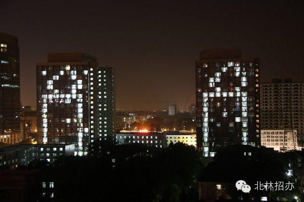 北京林业大学夜景—5.12烛光纪念