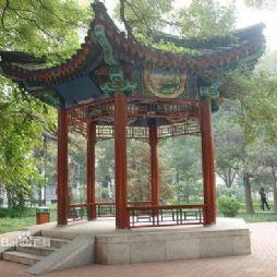北京林业大学的流书播惠亭