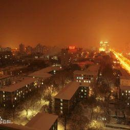 北京林业大学夜景—由西向东