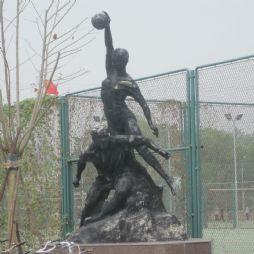 北京林业大学的雕塑—健儿