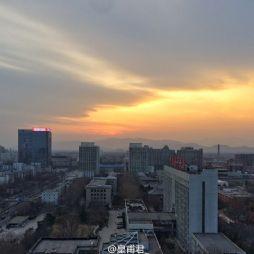 手机拍摄的北京林业大学傍晚