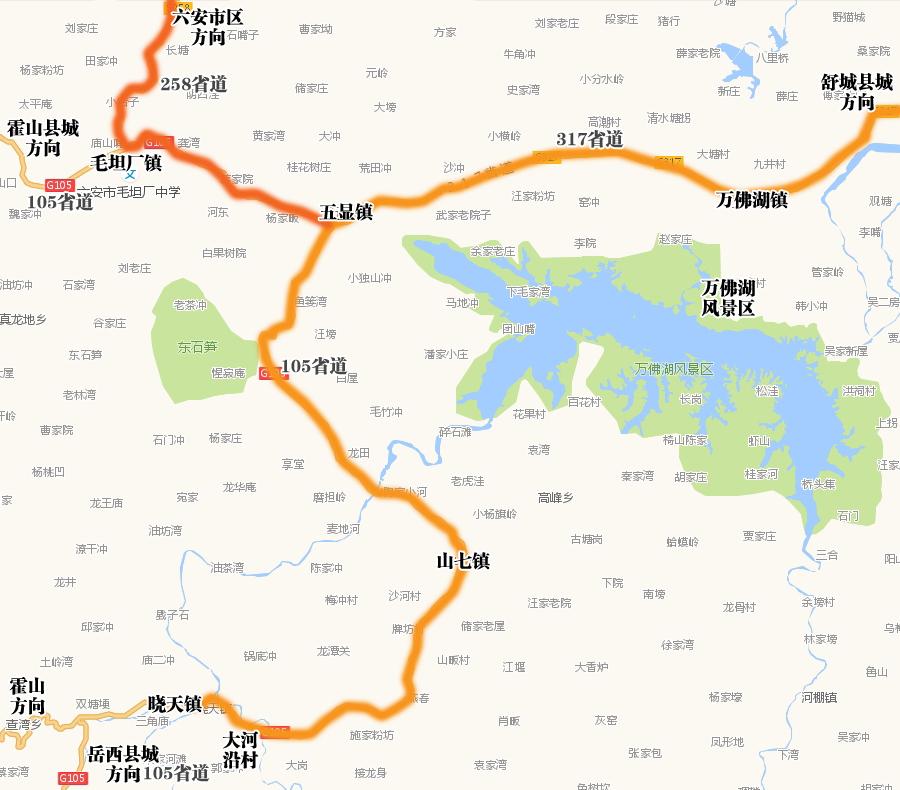 大概是为了发展旅游吧,舒城县城到五显镇的317省道修的相当不错,部分